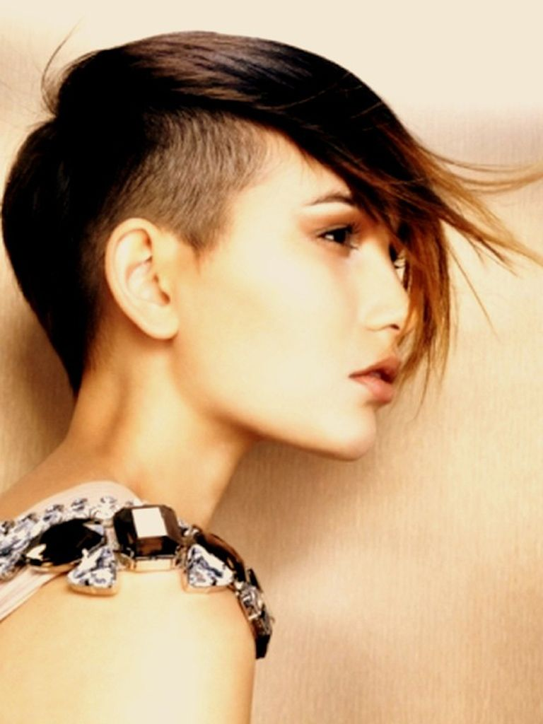 hair shaved on sides long on top woman | mohawk hairstyle women