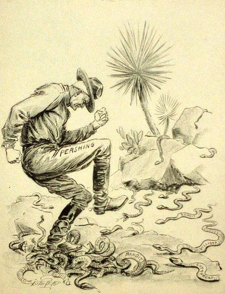 An Angry General Pershing Stomps A Nest Of Rattlesnakes