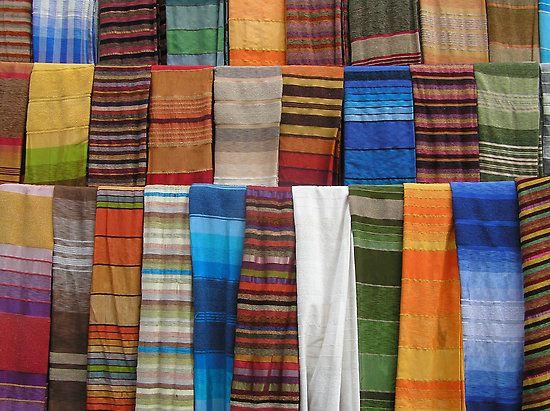 Moroccan handwoven fabric