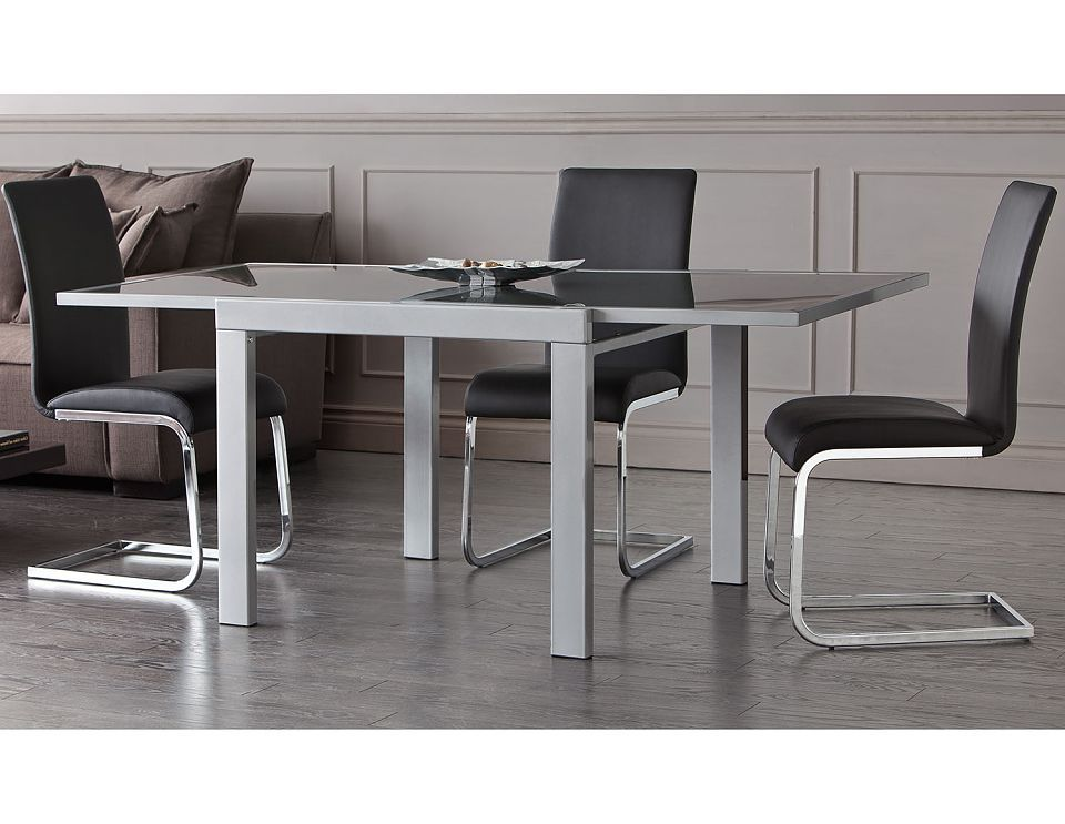 Struc Dining Room Tables Jasmine Silver Extendable Table