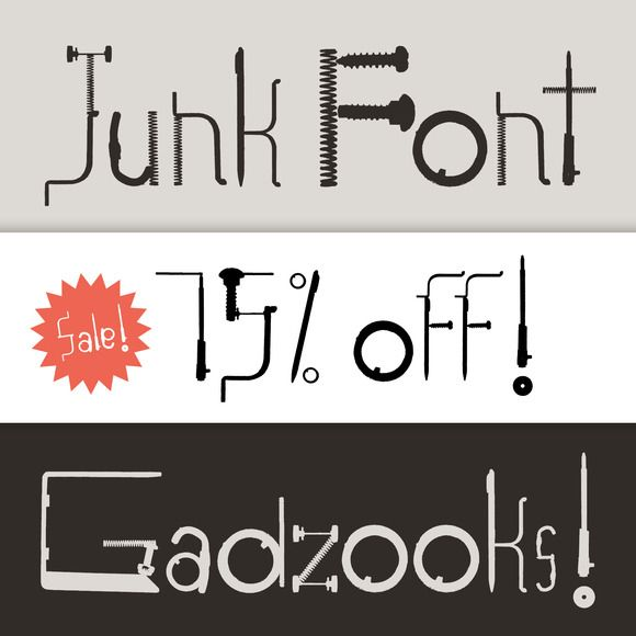 Download Junk Font by Bird Brain Factory on Creative Market | Font ...