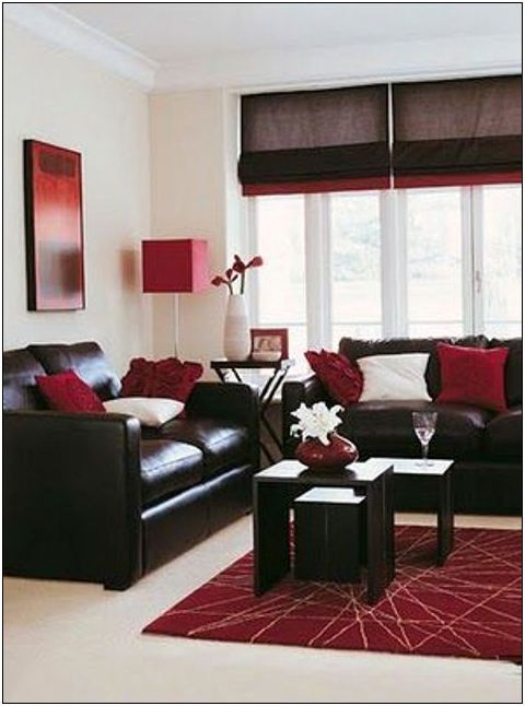 25 Red Black And White Living Room Decorating Ideas 4 Tipsmonika Net Brown Living Room Brown Living Room Decor Maroon Living Room #red #black #and #white #living #room #decorating #ideas