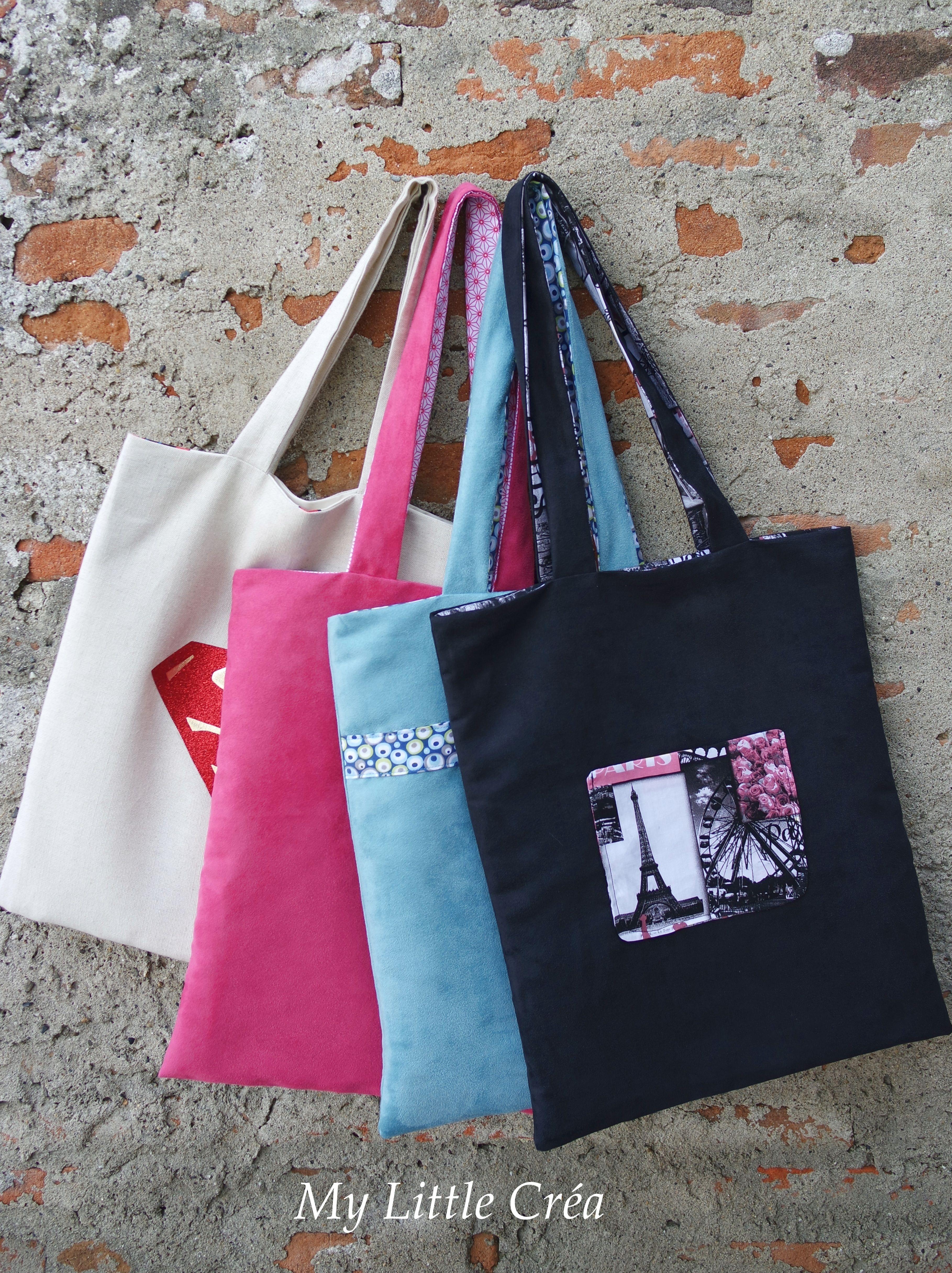 tote bag doubl 4 versions couturefacile tuto smartclicks diy bag pinterest tote bag. Black Bedroom Furniture Sets. Home Design Ideas