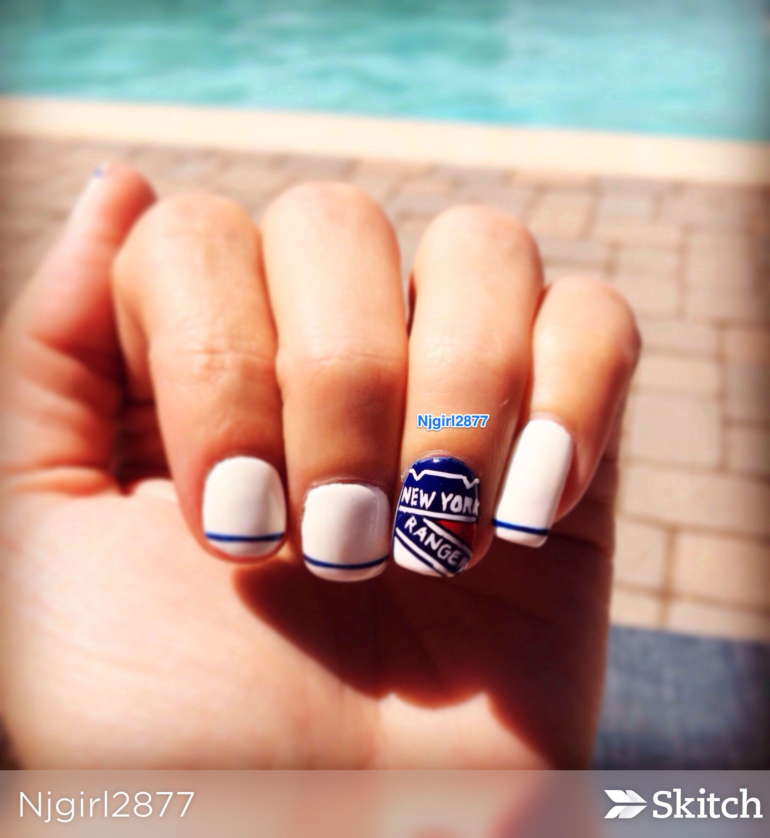 New york rangers nail design my girl did a great job even though new york rangers nail design my girl did a great job even though i have prinsesfo Choice Image