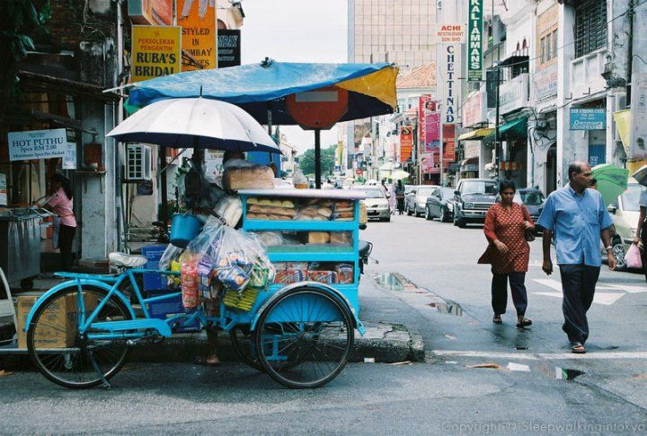 Bread man on bicycle, Penang, Malaysia #asia #travel #destination #places