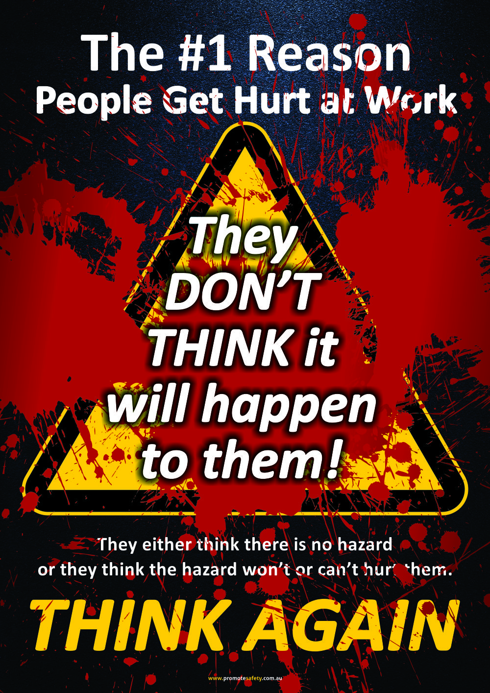 a size workplace safety poster encouraging workers to think about  a3 size workplace safety poster encouraging workers to think about what hazards are around