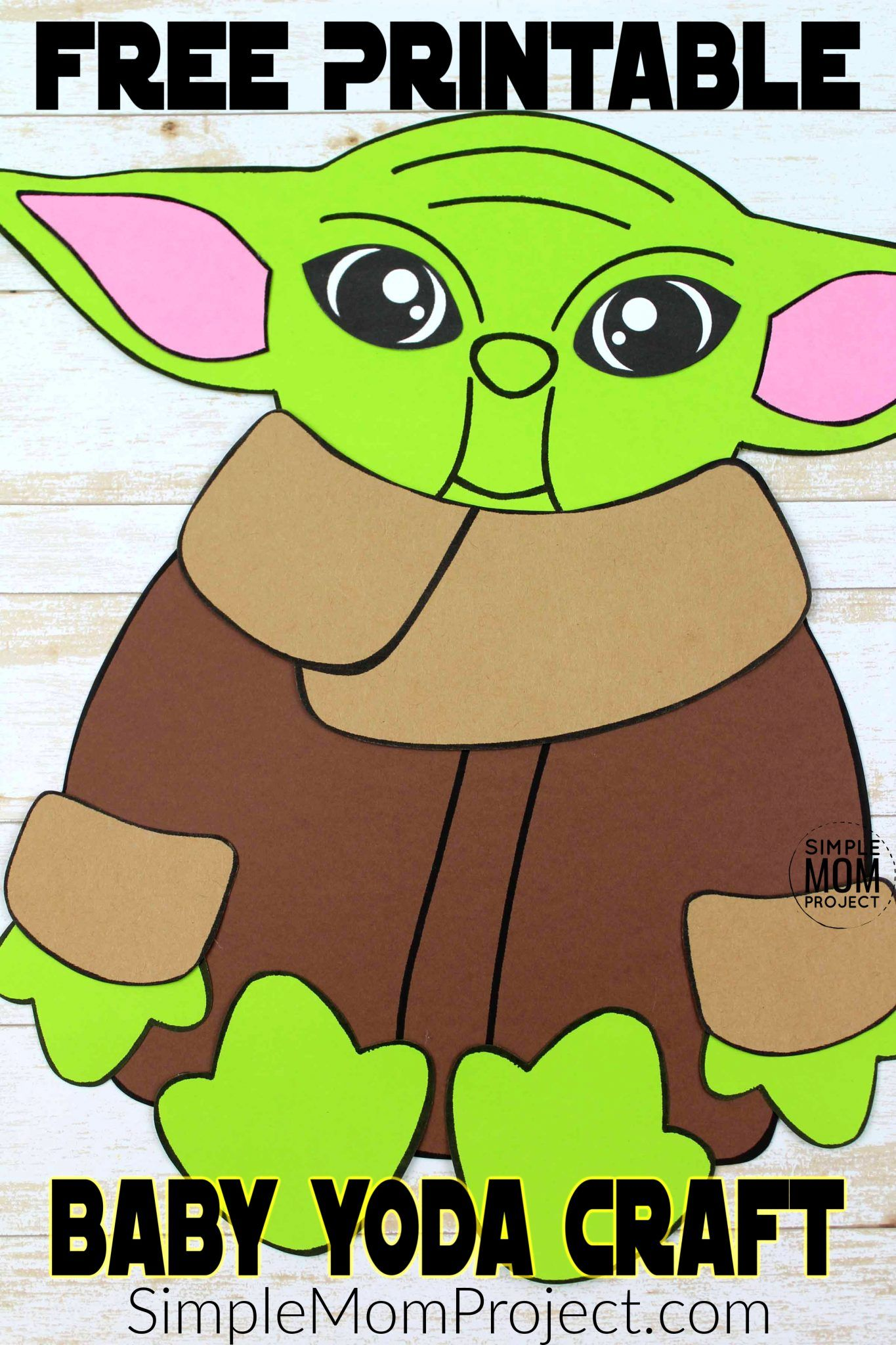 Build-a-Yoda Craft for Kids with a Free Printable Template