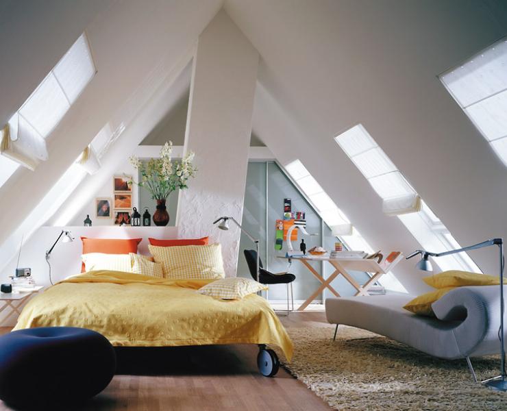 Dachboden Schlafzimmer ~ Räume mit dachschrägen die besten wohntipps: dachfenster