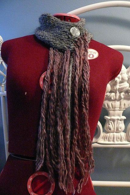 Button Collar Scarf Pattern Free Knitting Patterns Scarves