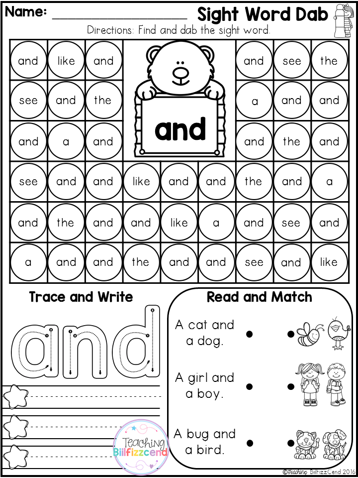 Sight Word Dab Pre Primer This Pack Is Great For Beginning Readers In Preschool And In Kinderga Sight Word Fluency Preschool Sight Words Teaching Sight Words