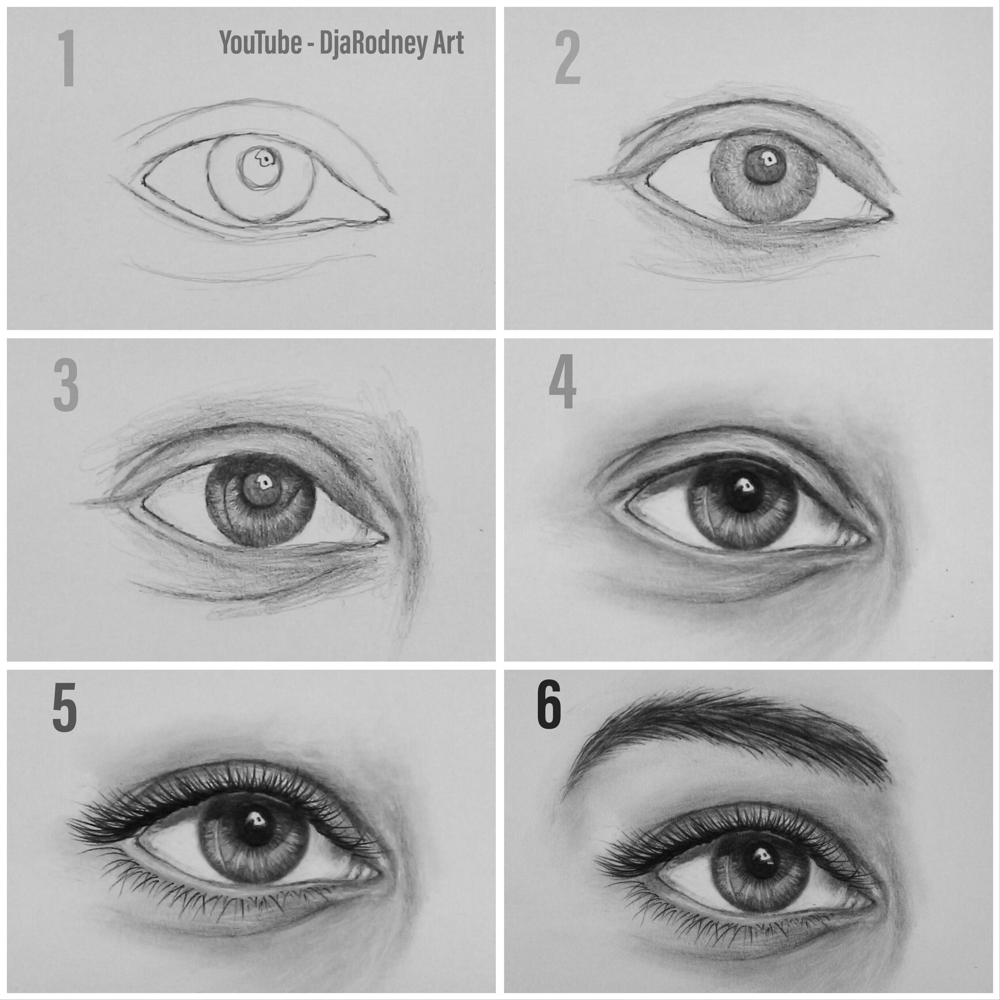 Easy Way To Draw Realistic Eyes Step By Step For Beginners Hello
