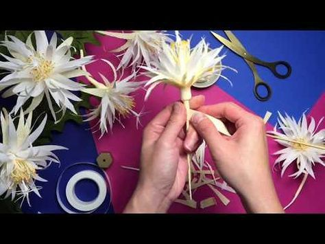 How To Make Crepe Paper Cactus Flower YouTube