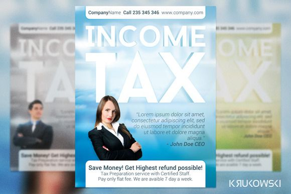 Income Tax Flyer Print Templates Adobe Photoshop And Adobe