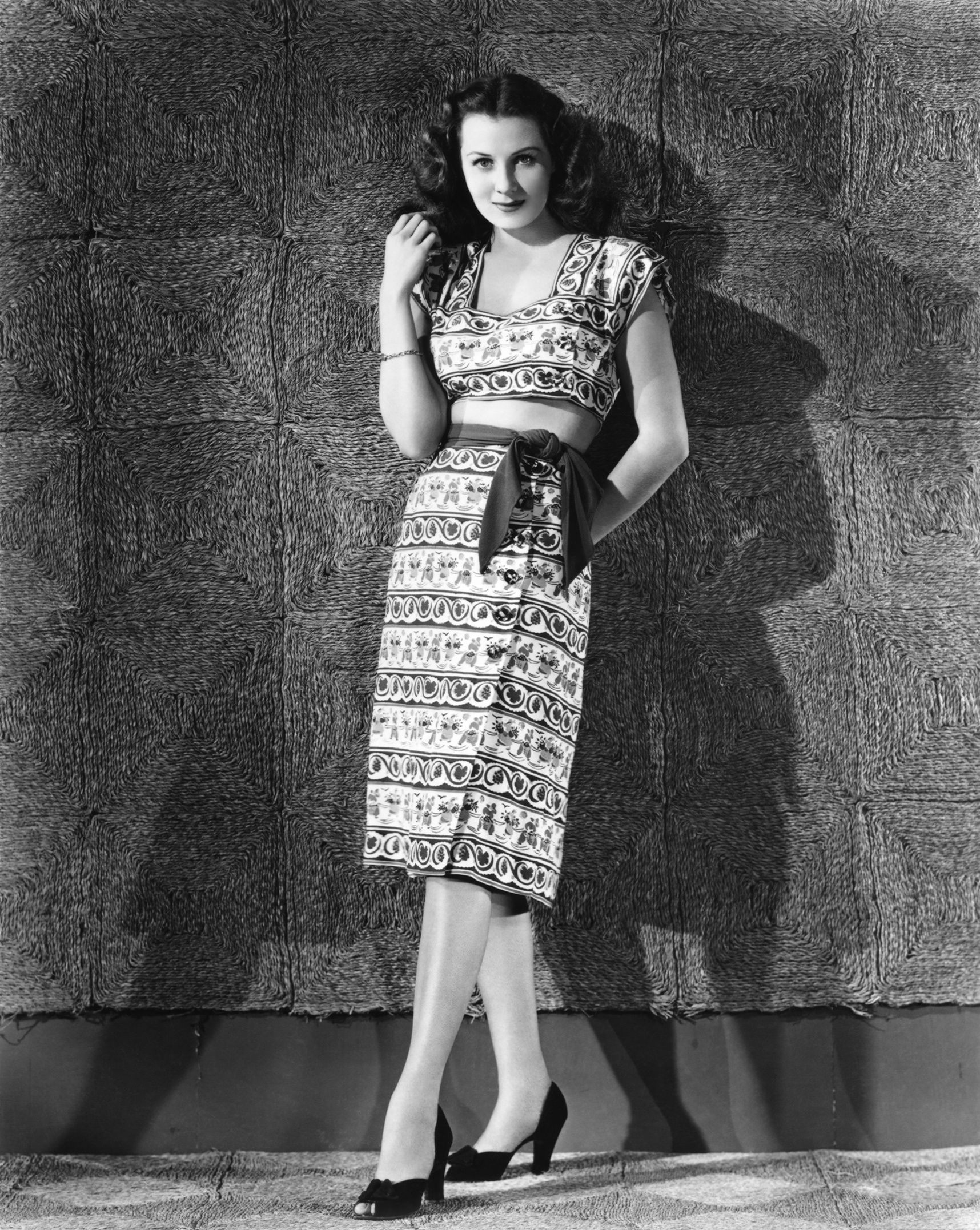 Rhonda Fleming, latin american inspired two piece outfit