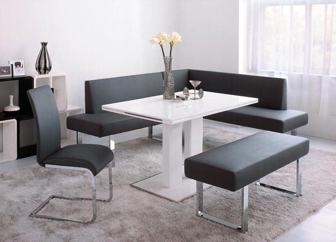 Robb Faux Leather Corner Bench Corner Dining Table Dining Table With Bench Dining Room Sets