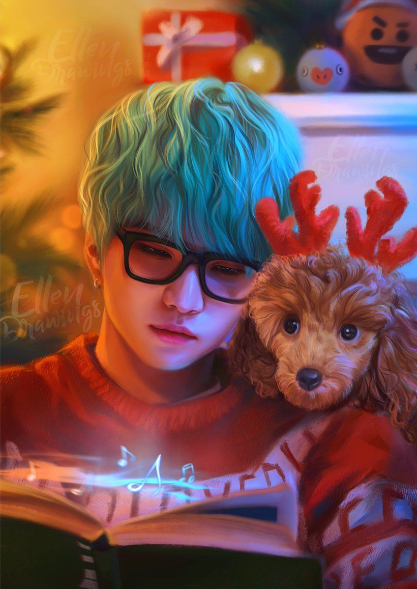Happy Christmas Eve with Yoongi and his lovely Holly