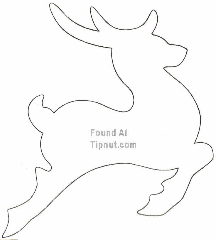 reindeer outline | Christmas | fieltro | Pinterest | Outlines ...