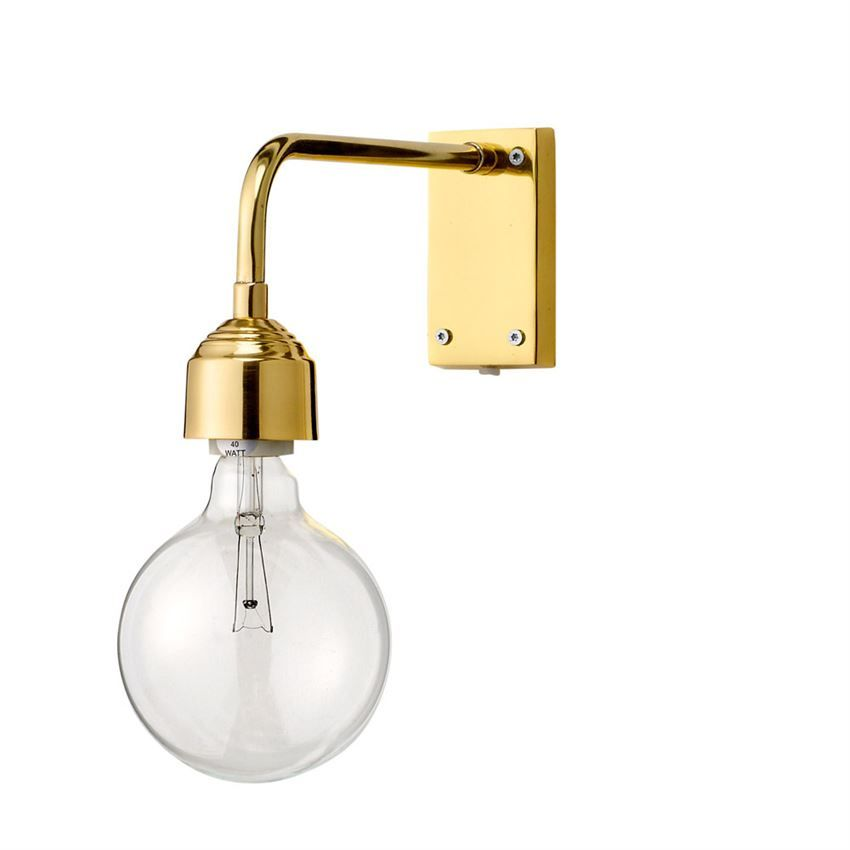 Gold Finish Wall Lamp by Bloomingville