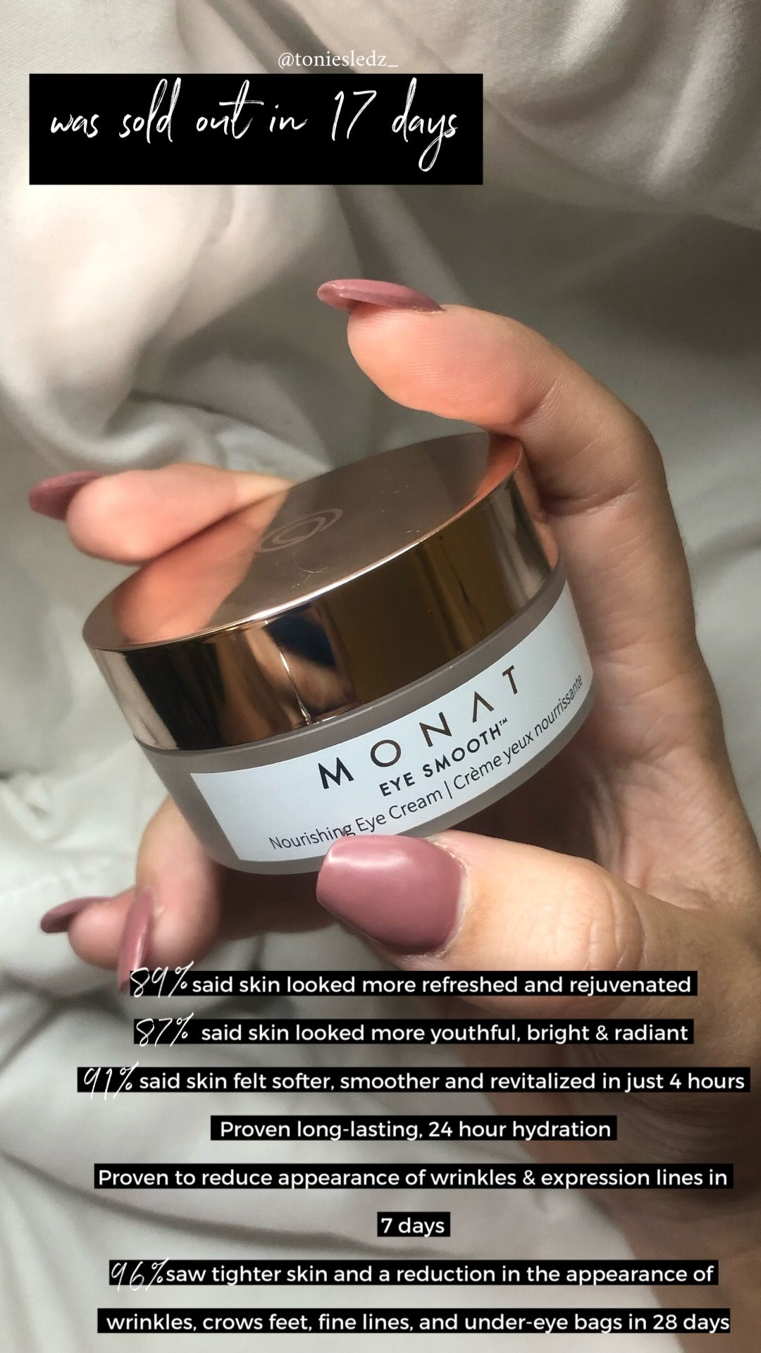 Monat Eye Smooth Cream Dermatologist And Ophthalmologist Approved