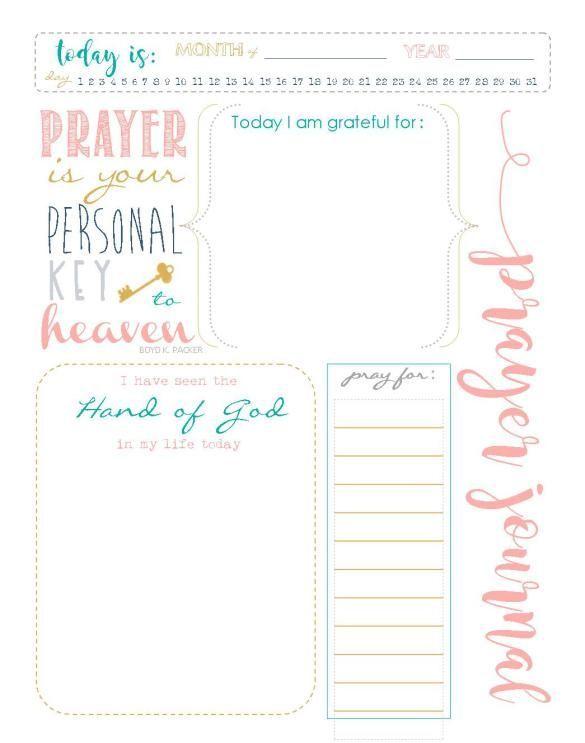 Start A Prayer Journal For More Meaningful Prayers Free Printables Prayer Journal Template Prayer Journal Printable Prayer Journal