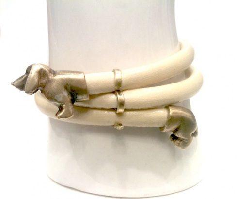 Wrap around Dachshund bracelet