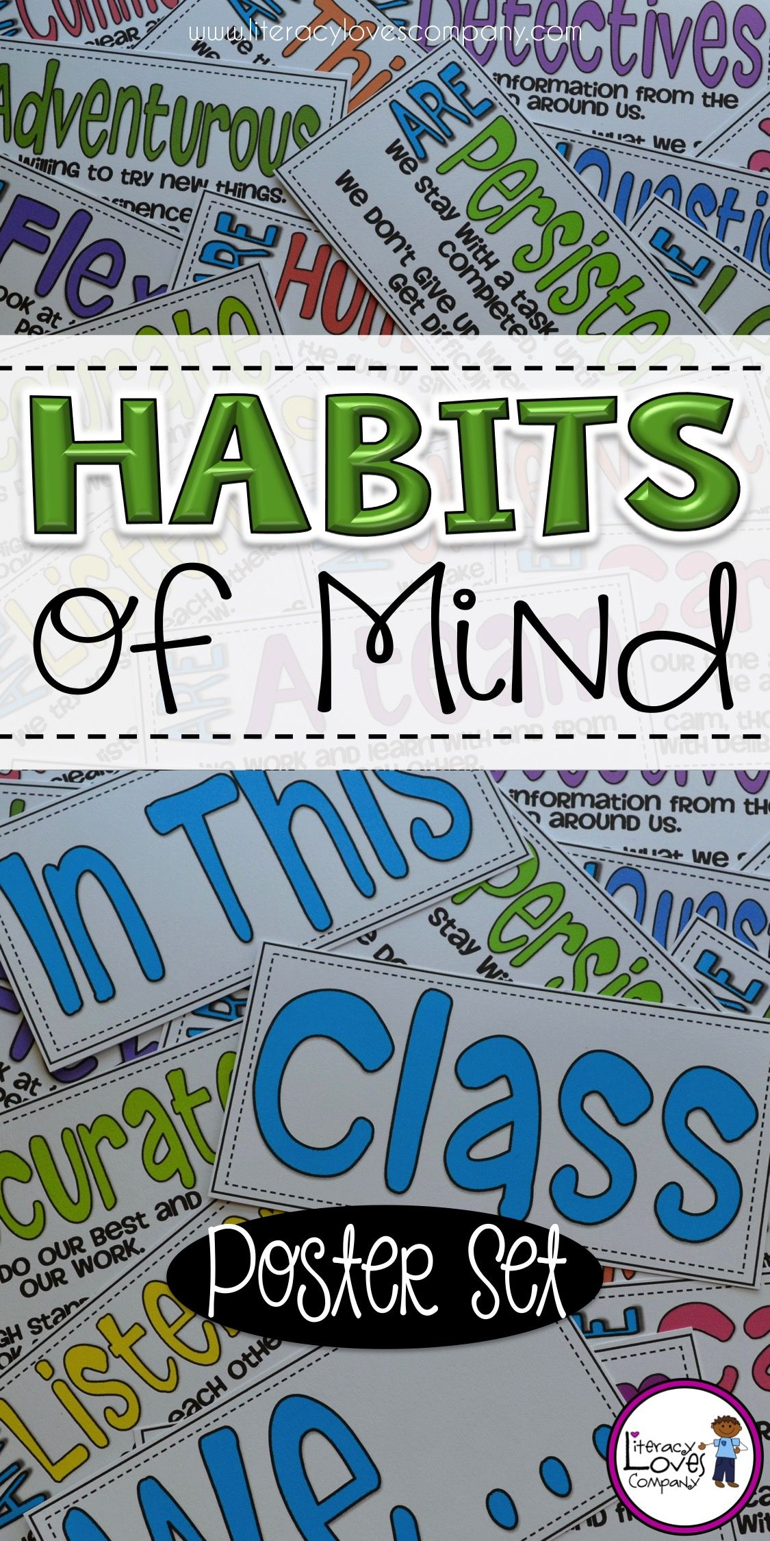 Put your habits of mind on display with this colorful poster set!  Great for back to school, classroom displays, class meeting focus lessons, and more! $
