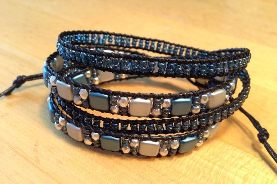 Hey, I found this really awesome Etsy listing at https://www.etsy.com/listing/223616955/double-wrap-mosaic-tile-beaded-bracelet