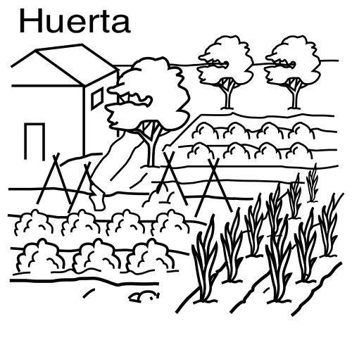 Huerta escolar para colorear - Imagui   Bricolaje y manualidades ...