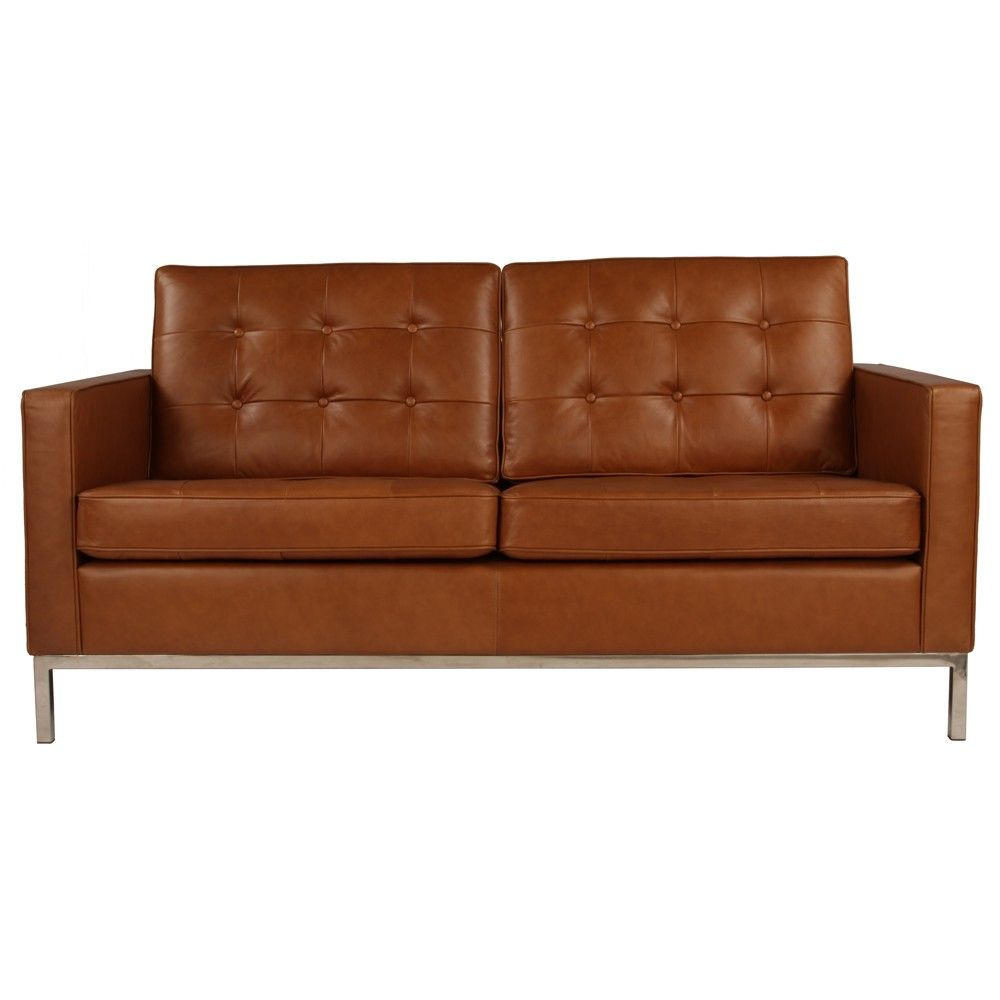 Florence Knoll Sofa 2 Seater Sofa Replica In Leather Sofas
