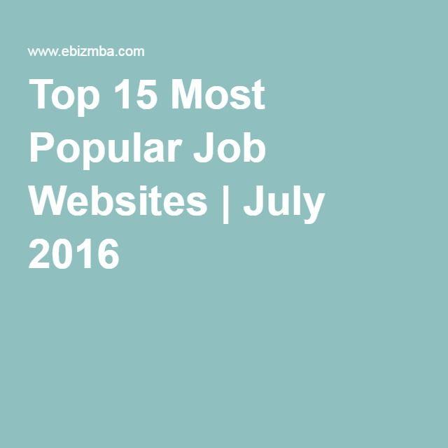 top 15 most popular job websites
