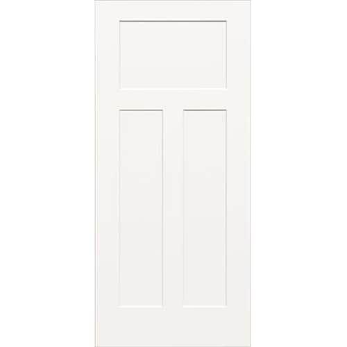 Reliabilt White 3 Panel Craftsman Hollow Core Molded Composite Slab Door Common 30 In X 80 In Actual 30 In X 80 In In 2020 Slab Door Black Interior Doors House Paint Interior