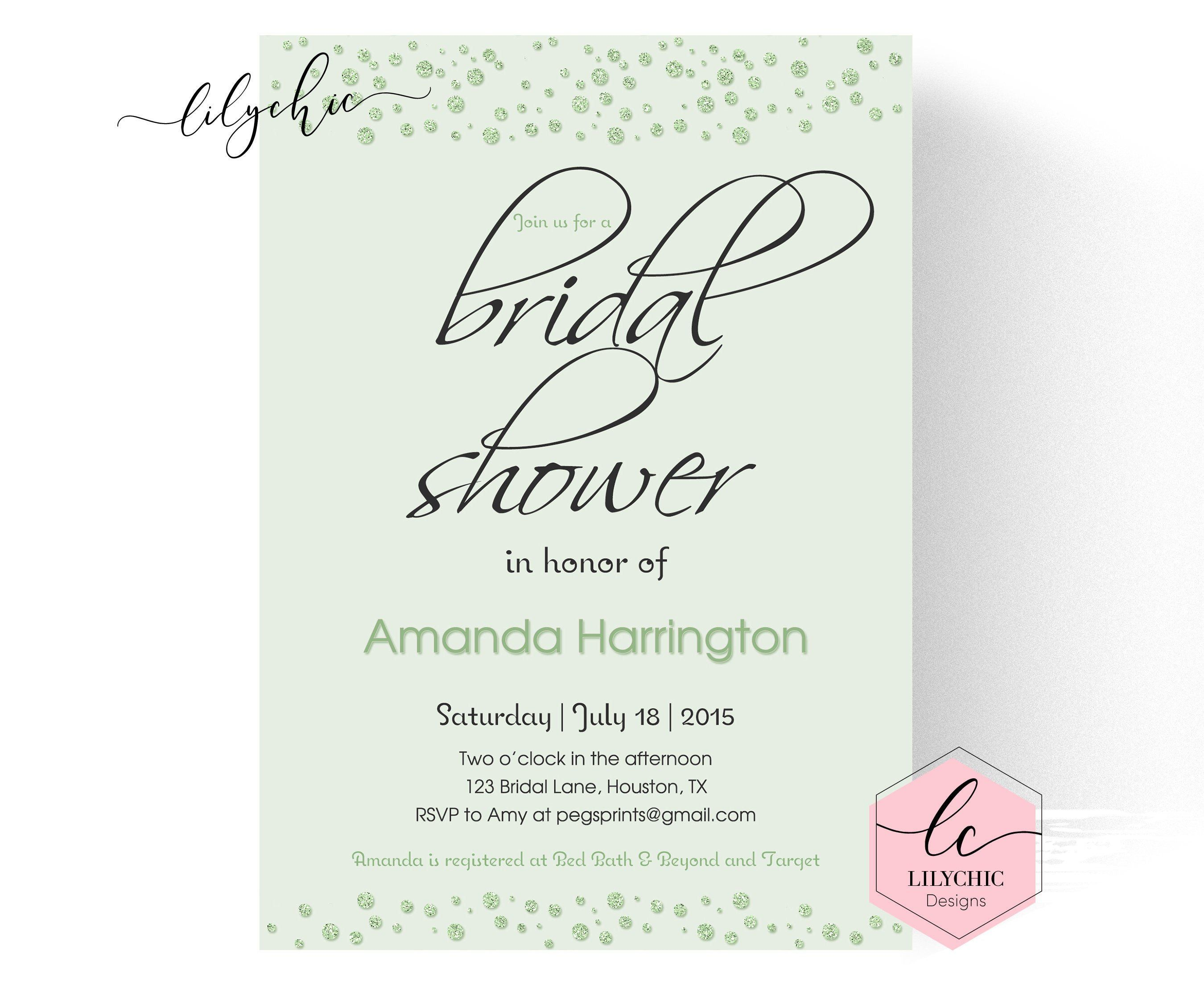 Wording For Bridal Shower Invitations Awesome Mint Green Cheap Wedding Shower Invitations Wedding Shower Invitation Wording Bridal Shower Invitations Printable