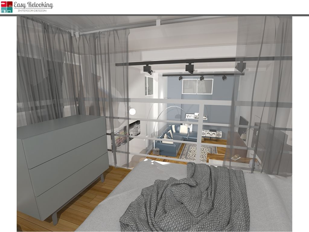 Camera da letto su soppalco in loft | My easy relooking blog | Pinterest