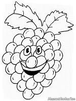 Gambar Kartun Animasi Buah Anggur Untuk Diwarnai Mewarnai Gambar