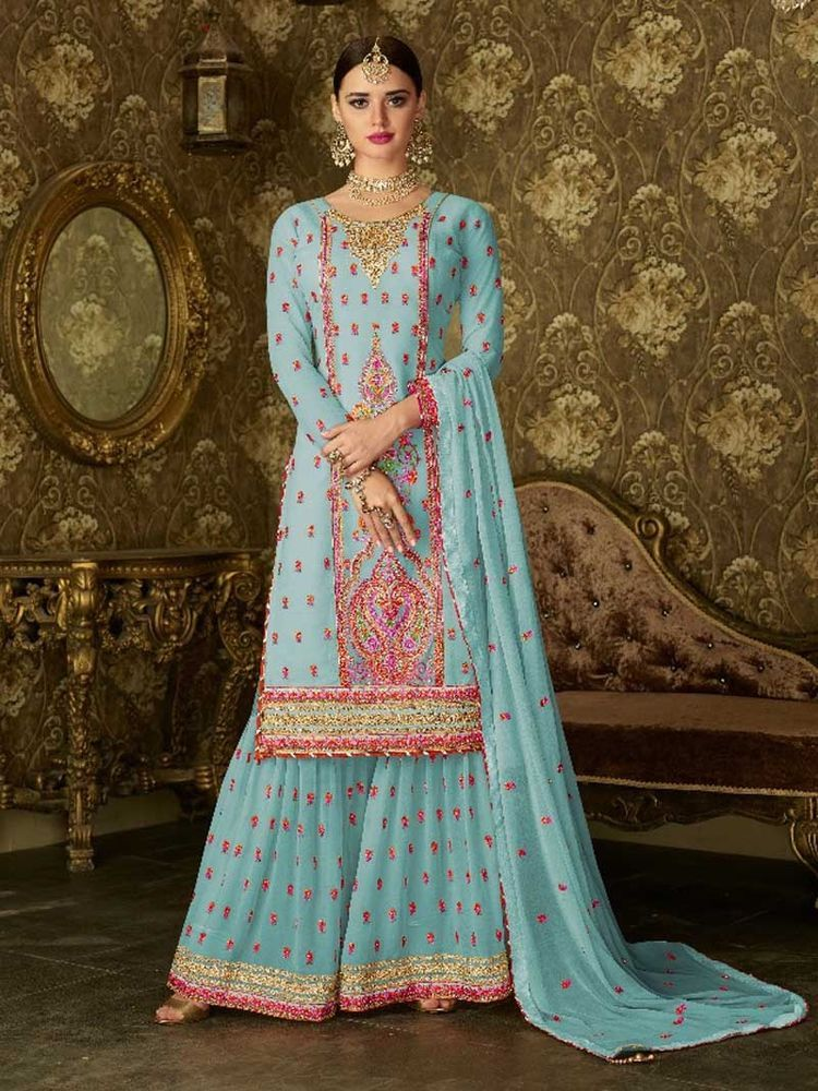 cd5ad01f7bd Designer Bollywood Fashionable Bridal Party wear Salwar Kameez New Punjabi  Suit