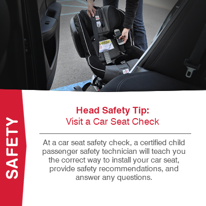 At a car seat safety check, a certified child passenger