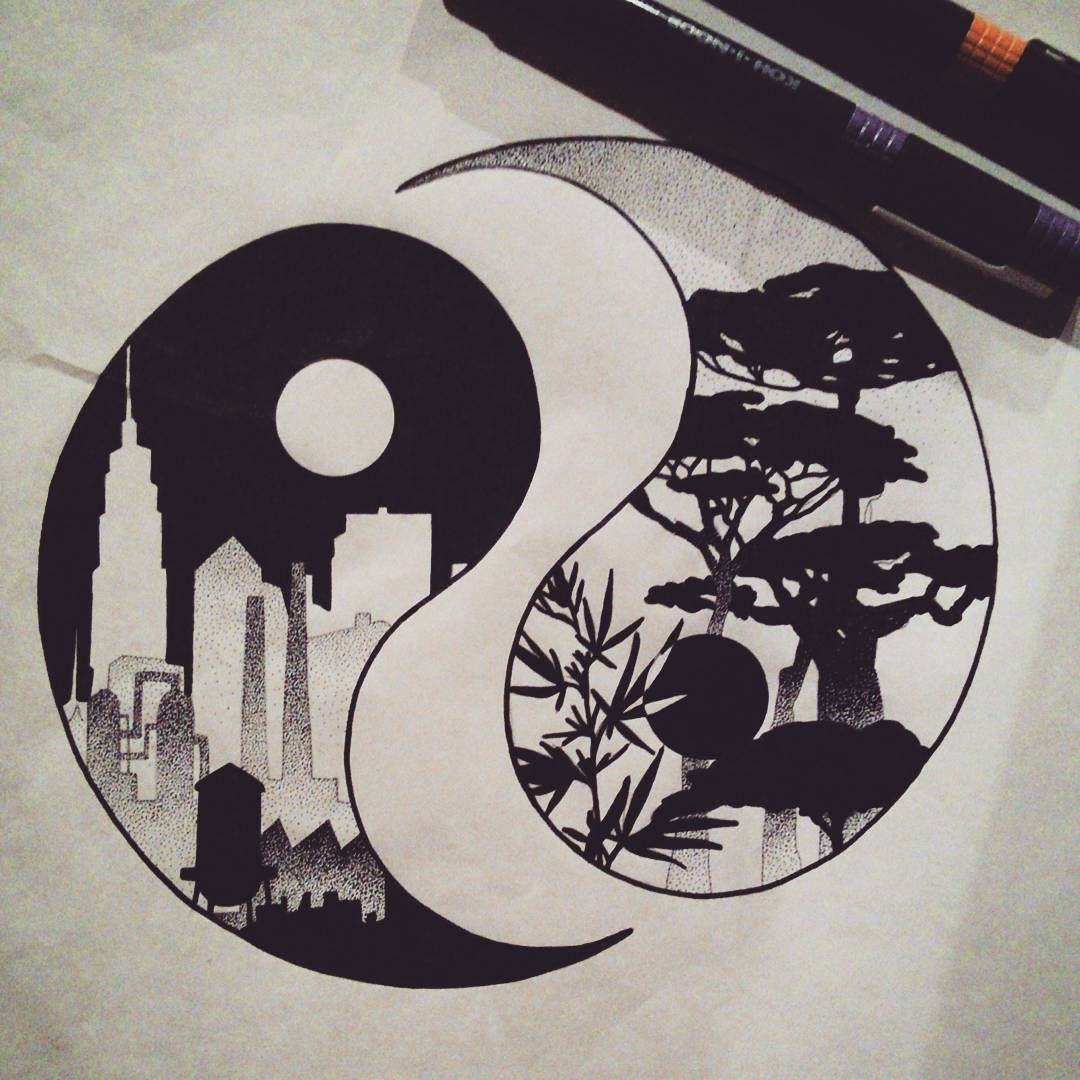 30 matching tattoo ideas for couples yin yang city and for Yin yang couples tattoos