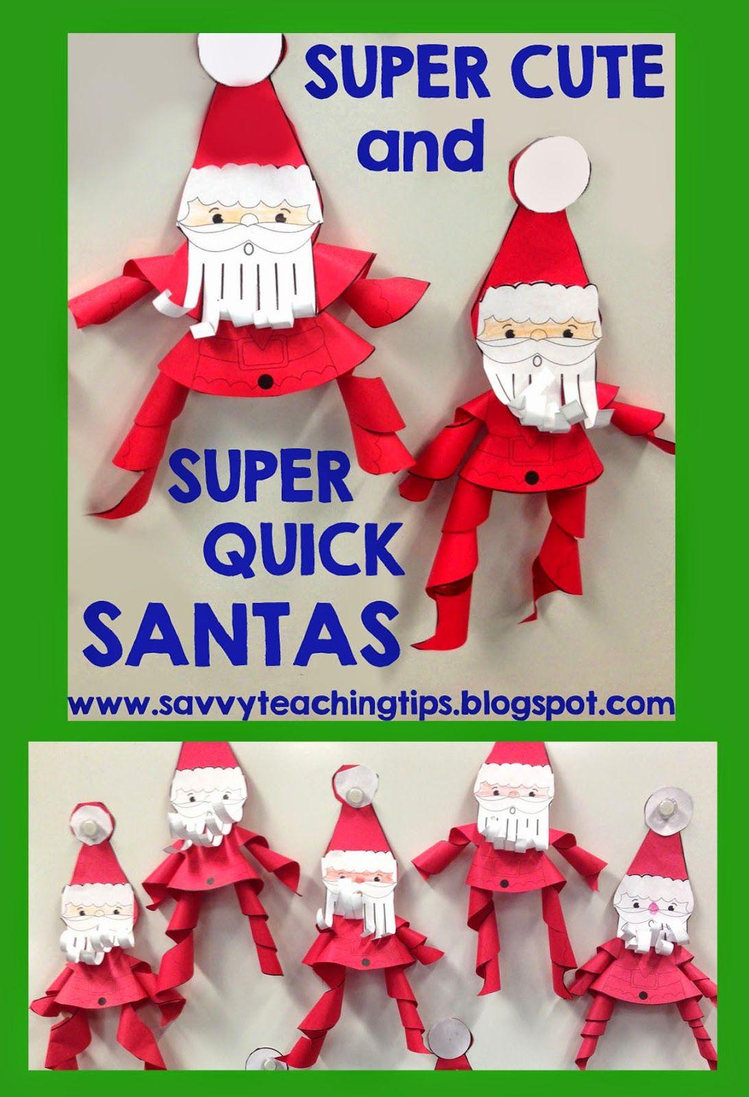 Super Cute And Super Quick Santas