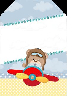 c2f0c5260 Aviator Bear Party Printables | Etiket | Hediye etiketleri y Kapılar