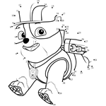 Rubble Paw Patrol Coloring Paw Patrol Coloring Pages Pre Writing Activities