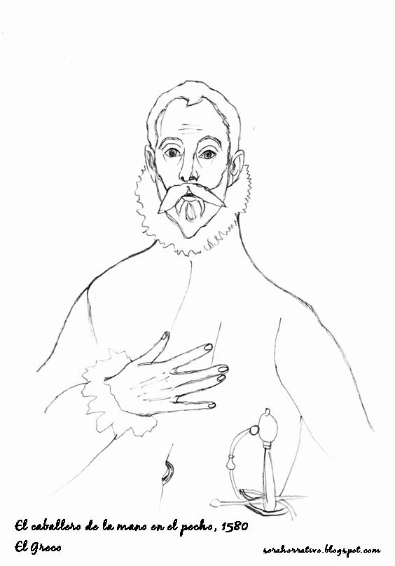El caballero de la mano en el pecho, El Greco | Cuadros para pintar ...