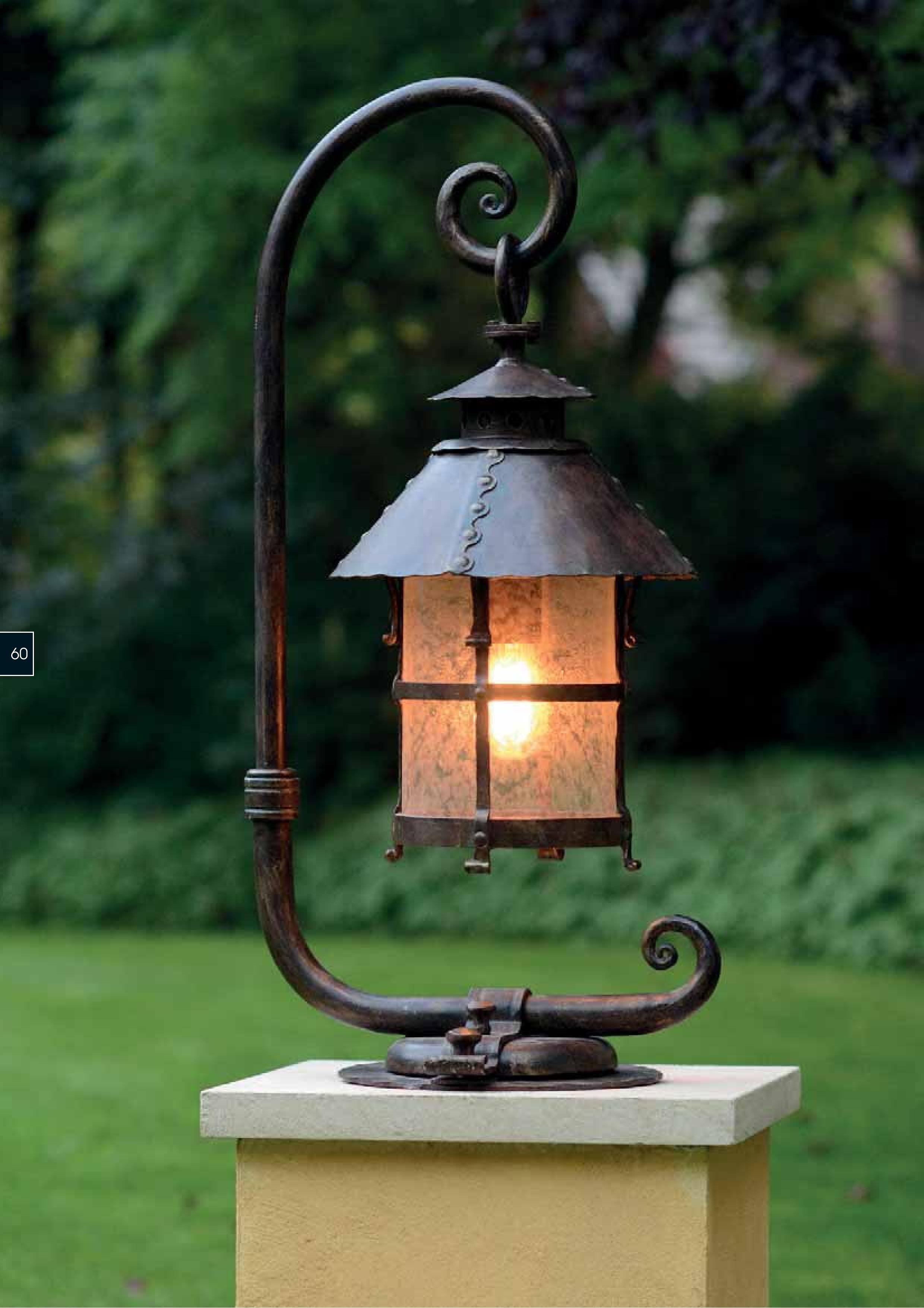Pedestal #luminair for #villa #entrance, #rustic type | CANDLE ...
