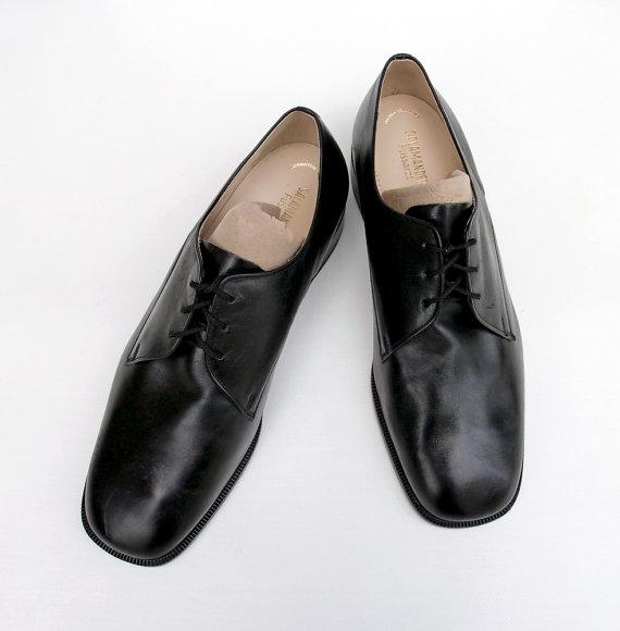 a1e2a7ca89ef4 Men's genuine leather shoes Vintage Salamander brand shoes Black ...