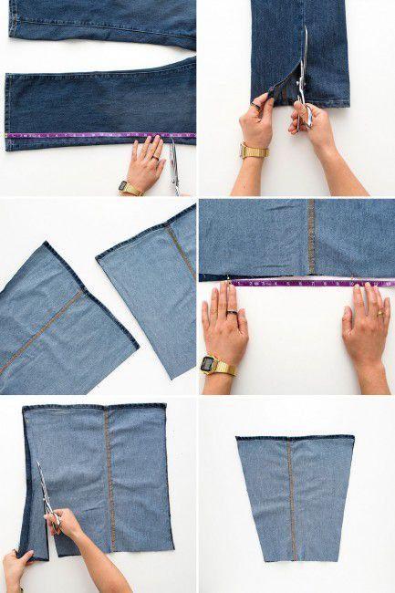 Como hacer un bolso con jeans