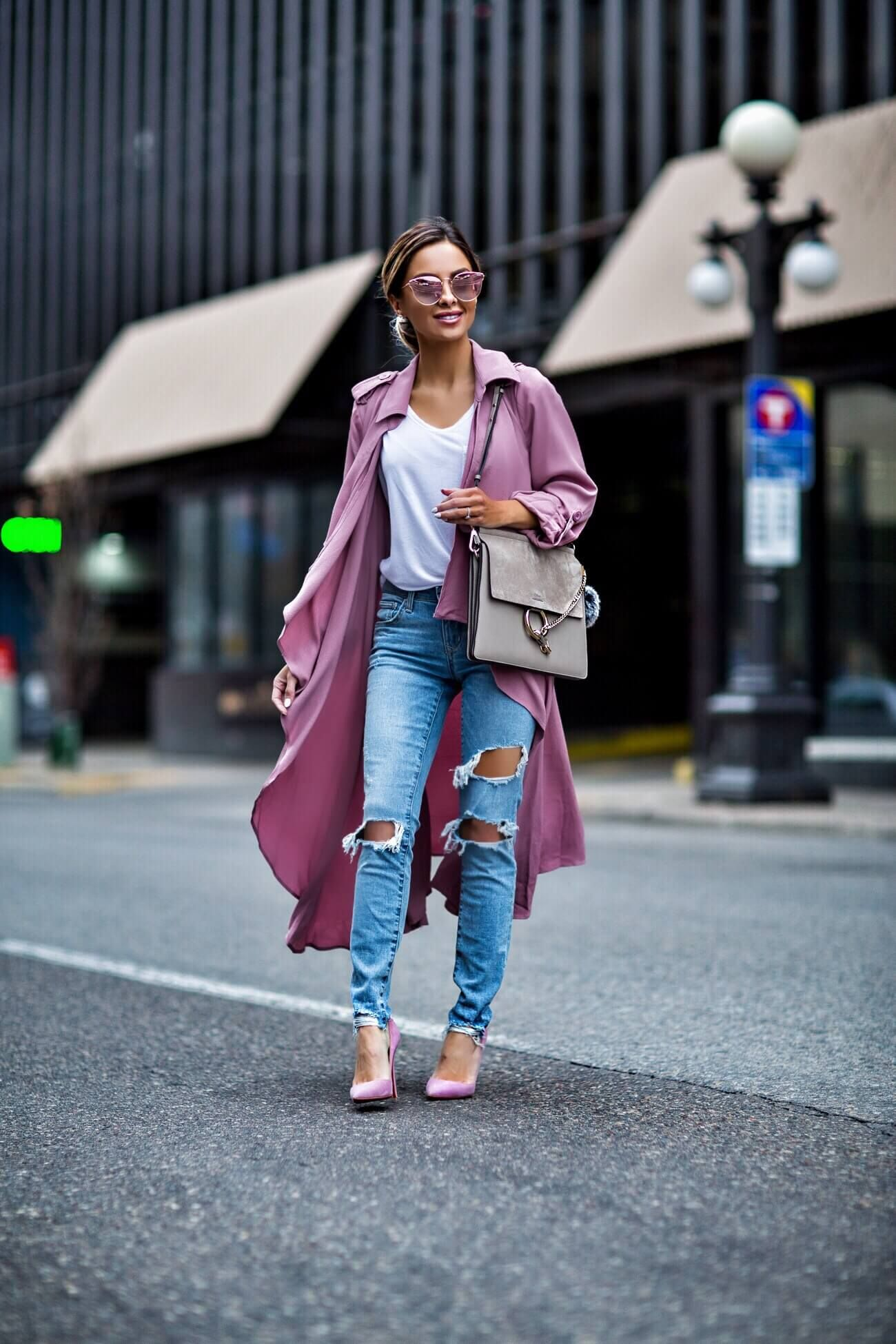 a9021870f477 mn fashion blogger mia mia mine wearing a pink trench coat and pink christian  louboutin heels