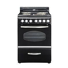 700 24 Inch Retro Style Electric Range In Black Retro Appliances Retro Stove Electric Range