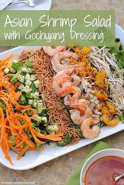 Asian Shrimp Salad with Gochujang Dressing