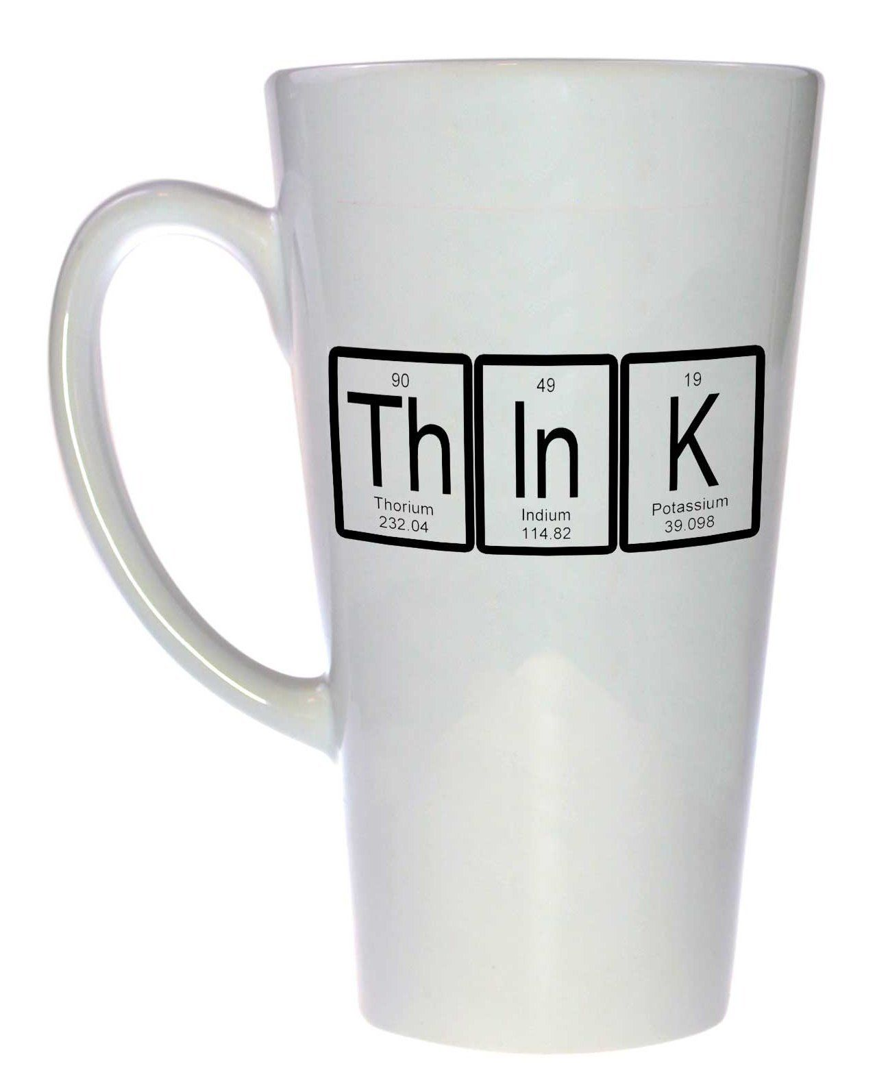 Think Periodic Table Of Elements Tall Latte Coffee Or Tea Mug