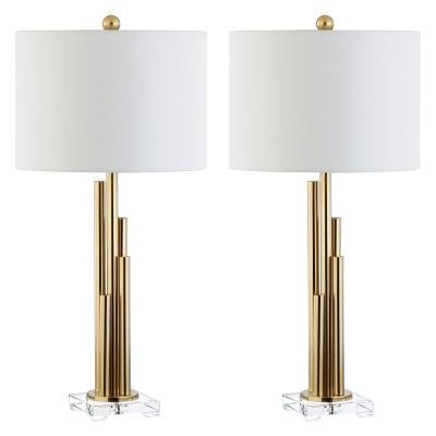Hopper Table Lamp Brass Gold 16 X16 Set Of 2 Includes Energy Efficient Light Bulb Safavieh Brass Table Lamps Table Lamp Sets Table Lamp