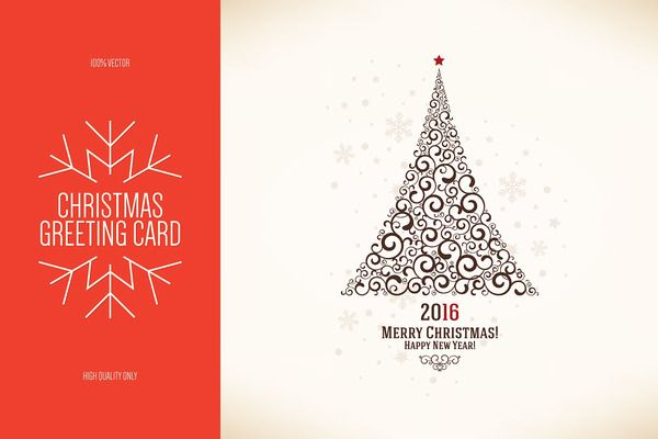 Christmas And New Year Greeting Card  Creative Market Love